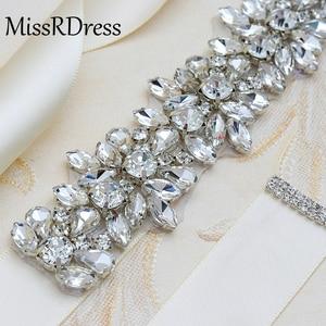 Image 5 - MissRDress חתונה נשים Rhinestones בעבודת יד חגורת חתונה שמלת ערב חגורת אביזרי נישואי כלה Sashes חברה חגורה