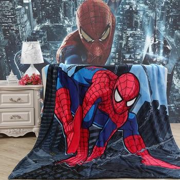 kids Cartoon iron Man Spiderman Blanket Cartoon Printed Soft Boy Girl Baby Coral Fleece Blankets Thick Warm Sofa Bed Sheets 1