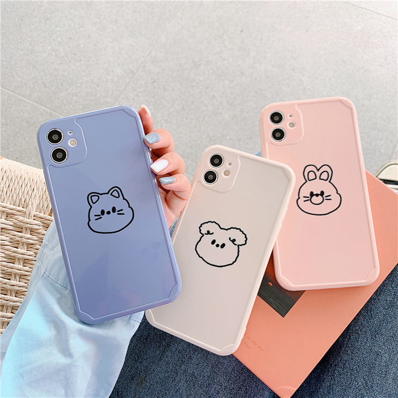 cute cartoon animal Soft phone case for iphone 12 11 Pro Max 12 7 8 plus X XR XS MAX XS SE 2020 Soft Silicone cover gift coque