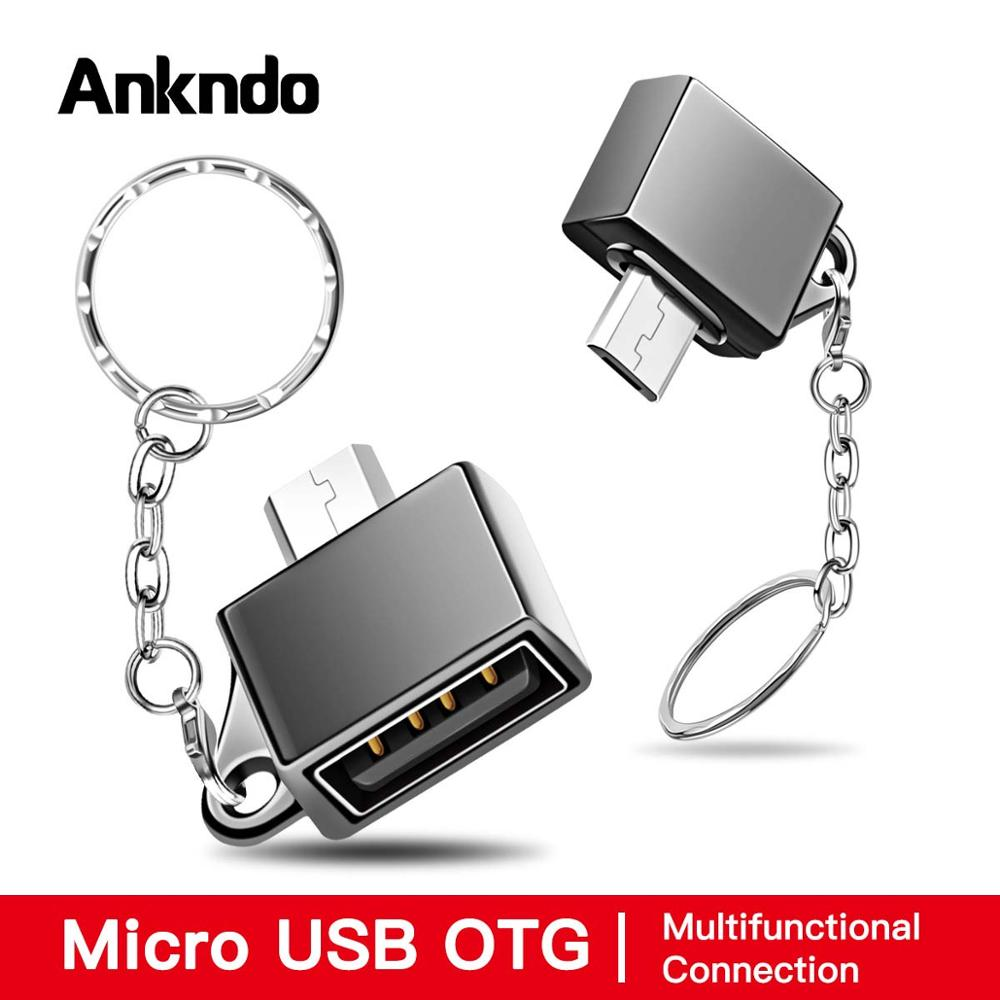 Ankndo Micro USB OTG Microusb Converter Adapter Male To USB Female Connector OTG Flash Drive Type-A Data Charging Cable Adapter
