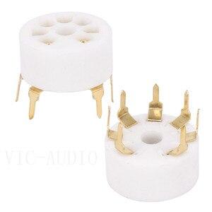 Image 4 - Tubo de cerámica PCB para coche, 5 uds., asiento de tubo electrónico de 7 pines para EC92 6J1 6J4 6J5 6Z4 6X4 6A2 6H2 1A2, amplificador de tubo de vacío DIY
