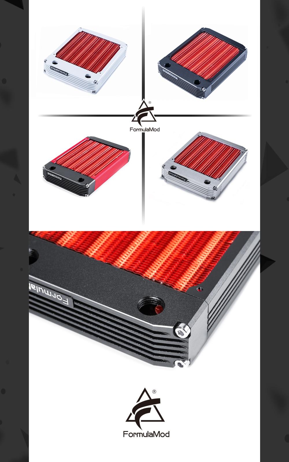 FormulaMod 360mm Radiator Copper 120/240/360mm 30mm Thickness 120mm Fan Water Cooling Radiator PC Radiator for Cooling