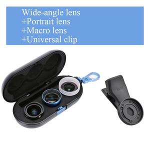 Image 3 - ユニバーサル電話レンズ高精細思鋭外部携帯レンズマクロ肖像ミラーセットのための広角魚眼レンズiphone