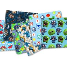 50*145cm Cartoon Blue  Printed Polyester Cotton Fabric for Tissue Sewing Quilting Fabrics Needlework Material DIY,1Yc18502