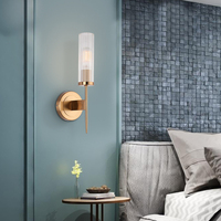 ECOBRT Modern Gold Wall Sconce Industrial Wall Lamp Vintage Wall Light Loft with E27 Bulb Iron Retro Home deco Lighting fixtures