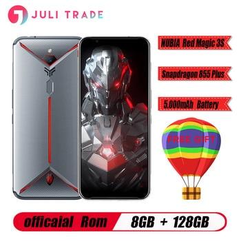 "Original ZTE nubia Red Magic 3S Mobile phone Snapdragon 855 Plus 8GB RAM 128GB ROM 6.65"" AMOLED 48.0MP+16.0MP 5000mAh Game phone"