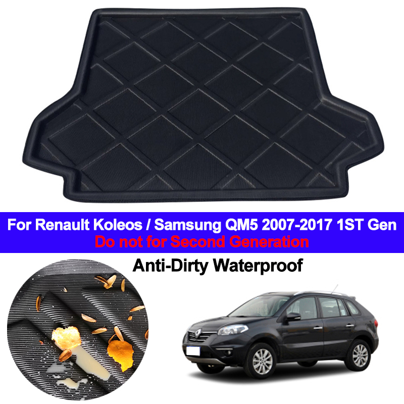 For Renault Koleos / Samsung QM5 2007 - 2015 Car Rear Boot Cargo Liner Tray Trunk Luggage Floor Mats Carpets Pad 2012 2013 2014