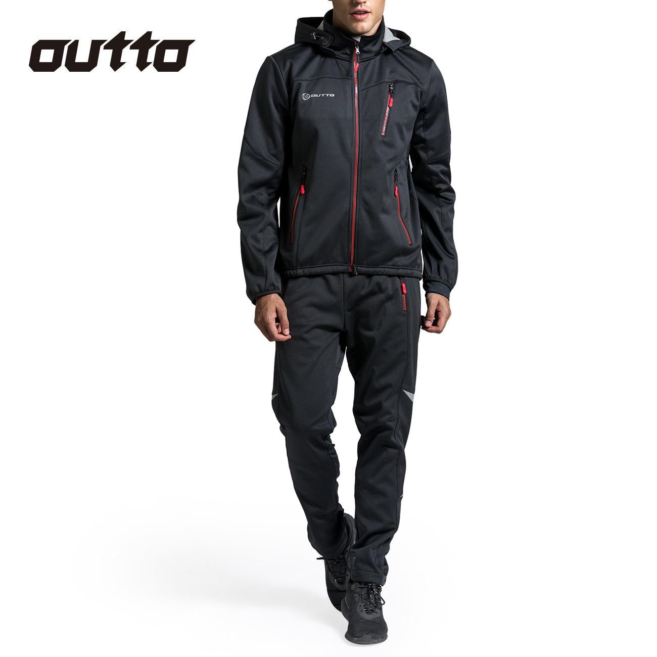 Зимняя теплая ветрозащитная флисовая одежда для велоспорта, Мужской трикотажный костюм, спортивные уличные водонепроницаемые штаны для езды на велосипеде, теплые комплекты для велоспорта|Велосипедные комплекты|   | АлиЭкспресс