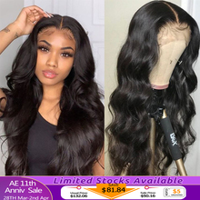 Closure Wig Human-Hair-Wigs Lace-Frontal Body-Wave Transparent Indian Alipanda Black