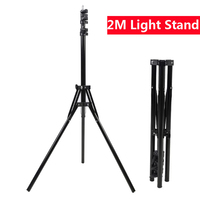 2M Photography Light Stand Foldable Heavy Duty Tripod Stand for Photo Studio Softbox Flash Reflector Lighting Background Stand