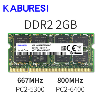 KABURESI 4GB(2x2GB)  DDR2 2GB 800MHZ 667MHZ 200pin Laptop Memory ram 2x Dual-channel PC2-6400 PC2-5300 Notebook SODIMM RAM 1.8v jzl laptop memory module ram sdram ddr2 533 667 800 mhz 200pin 2gb so dimm ddr 2 pc2 4200 5300 6400 notebook computer sodimm