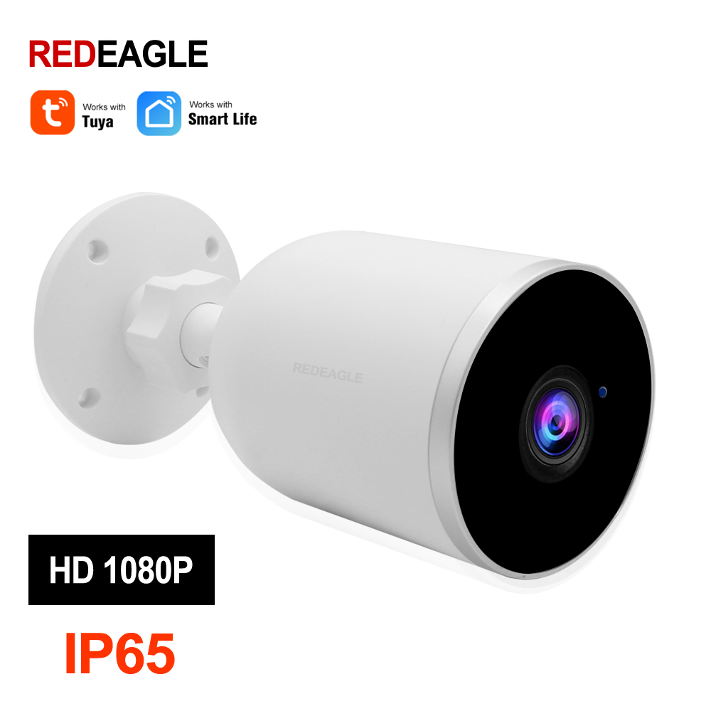 2MP 1080P WiFi IP Camera Wireless Security Outdoor Camera Night Vision Two Way Audio Motion Detection Work Tuya Smart Life APP|Surveillance Cameras| |  -