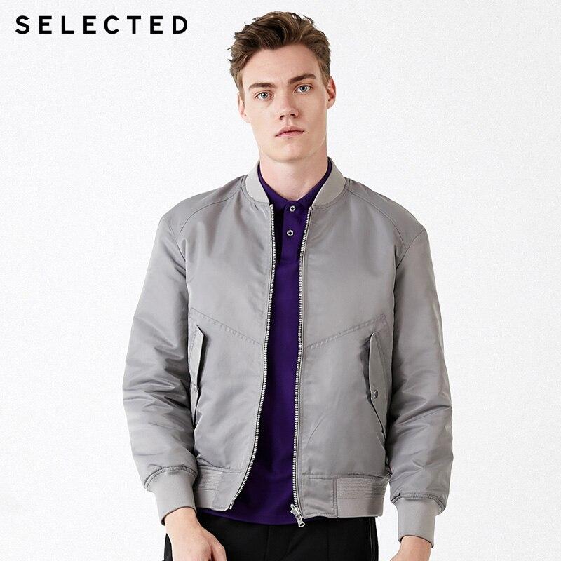 SELECTED  Mens Reversible Baseball Collar Casual  Cotton Jacket   419322501