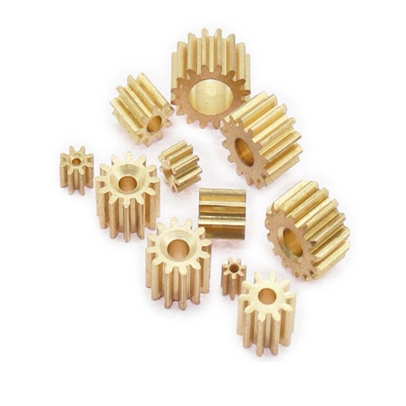 10 Pcs 0.5M 10/11/12/13/14/15 Tanden 0.5mod Gear Rack Tandwiel Precisie koper Staal Cnc Metal Gear Motor Pinion