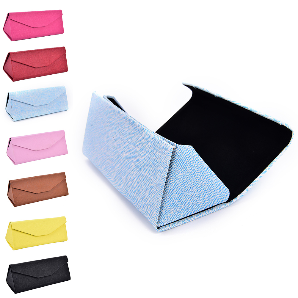 Triangle Foldable Glasses Case Candy Color Eyeglasses Sunglasses Caee Box16 x 7 x 6.5 cm size