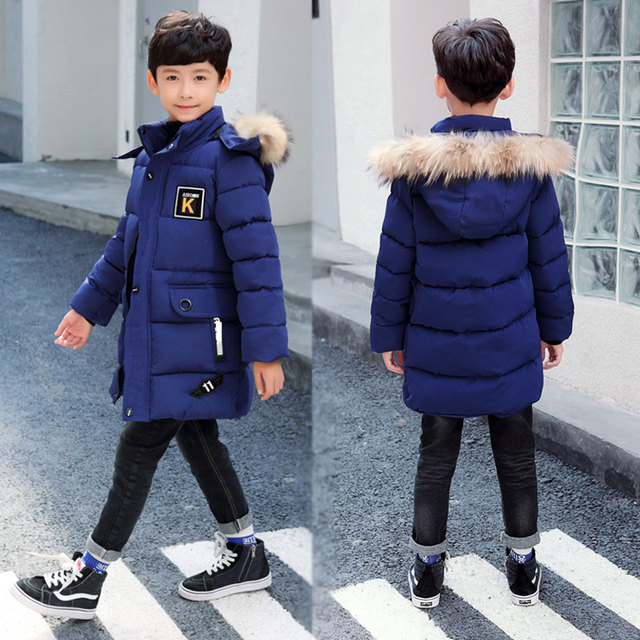 2020 New Winter Clothing Boys 4 Keep Warm 5 Children 6 Autumn Winter 9 Coat 8 Middle Aged 10 Year 12 Pile Thicker Cotton Jacket