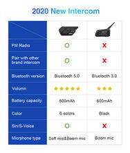 LEXIN-intercomunicador ET COM para casco de motocicleta, auriculares con Bluetooth 5,0, Radio FM integrada, Moto con batería de 800mAh, 2 uds.