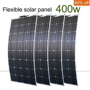 4 pcs 100 watt solar panels high quality solar panel kit module 100w flexible solar panel 200w 300w for home rv roof boats