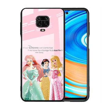 Pokrowiec ze szkła hartowanego Disney śliczna księżniczka dla Xiaomi Redmi Note 10 10S 9T 9S 9 8T 8 7 Pro Max odporny na wstrząsy futerał na telefon tanie i dobre opinie CN (pochodzenie) Tempered Glass Phone Case Tempered Glass Cover Phone Case W stylu rysunkowym Zwykły 100 brand new high quality A++
