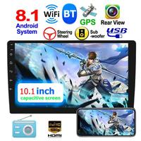 2 DIN 10.1 inch Touch Screen Android 8.1 Car Stereo GPS Navigation WiFi bluetooth 4.0 FM Radio MP5 Multi Media Player Universal