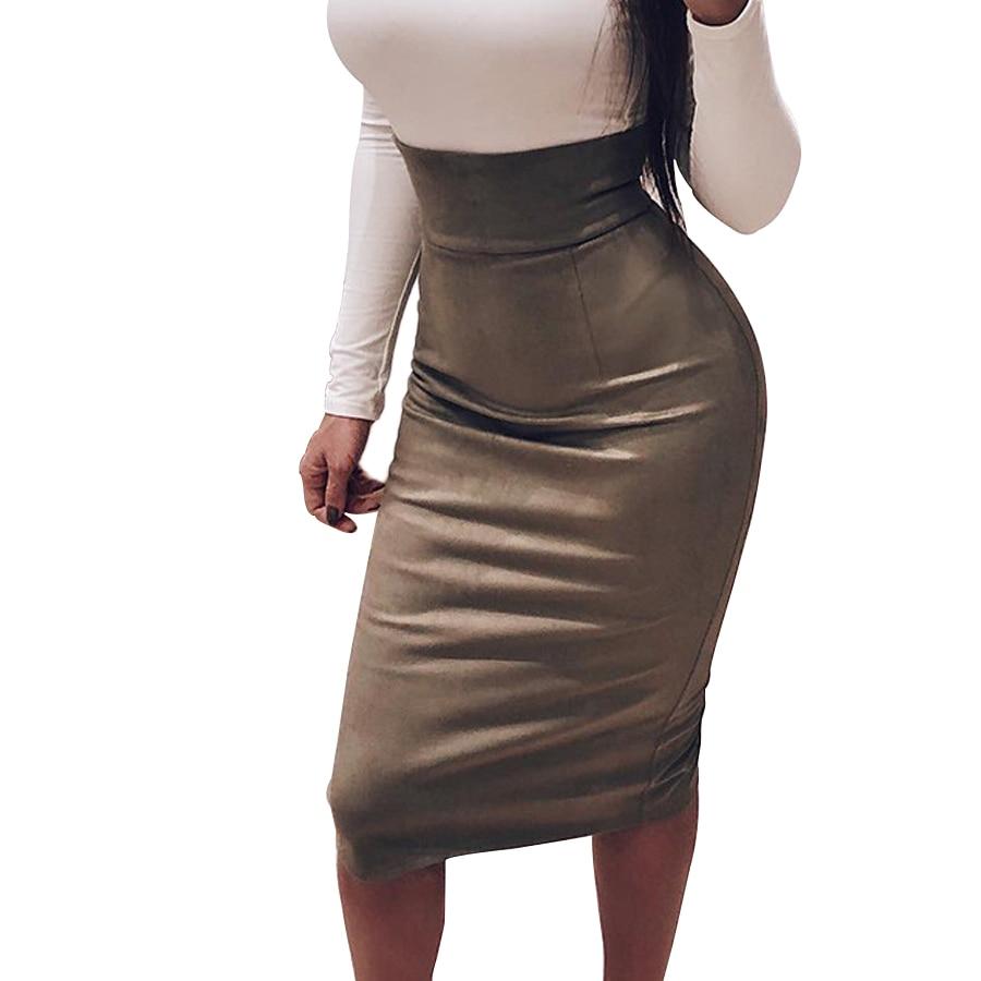 Womens Wrap Elegant Bandage Skirt High Waist New Midi Skirt Party Pencil Skirts Solid Pink Zipper Split Slim Bodycon Skirt