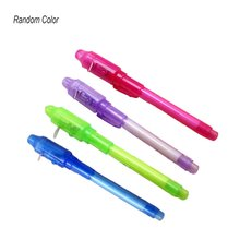 1PCS Luminous Light Pen Big Head UV Check Money Drawing Magic Pens Toys for Kids Uv Magic Ink Lamp Pen Stationery