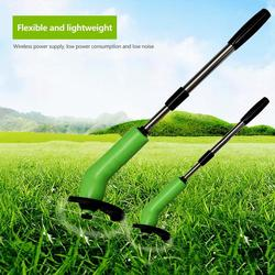 Portable Grass Trimmer Cordless Lawn Weed Cutter Edger with Zip Ties Lawn Mower Grass Brush Cutter Gardening Mowing Tools Kits