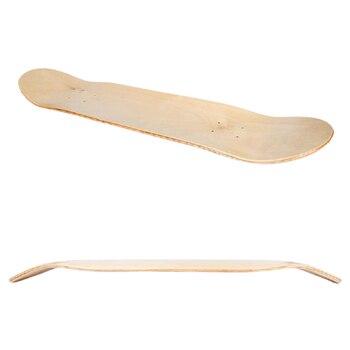Jusenda-monopatín blanco de 8 pulgadas, 8 capas, Natural, doble cóncavo, madera de...