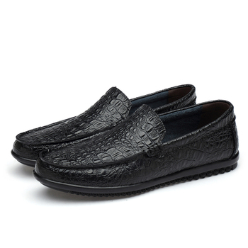 High Quality Casual Men Shoes Spring Leather Male Loafers Slip on Black Driving Shoes Men Contracted Fashion Loafers Male HC-729