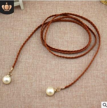 Style Sweet Belt Women Vintage Belt Style Candy Colors Hemp Rope Braid Belt Female Belt For Dress 6