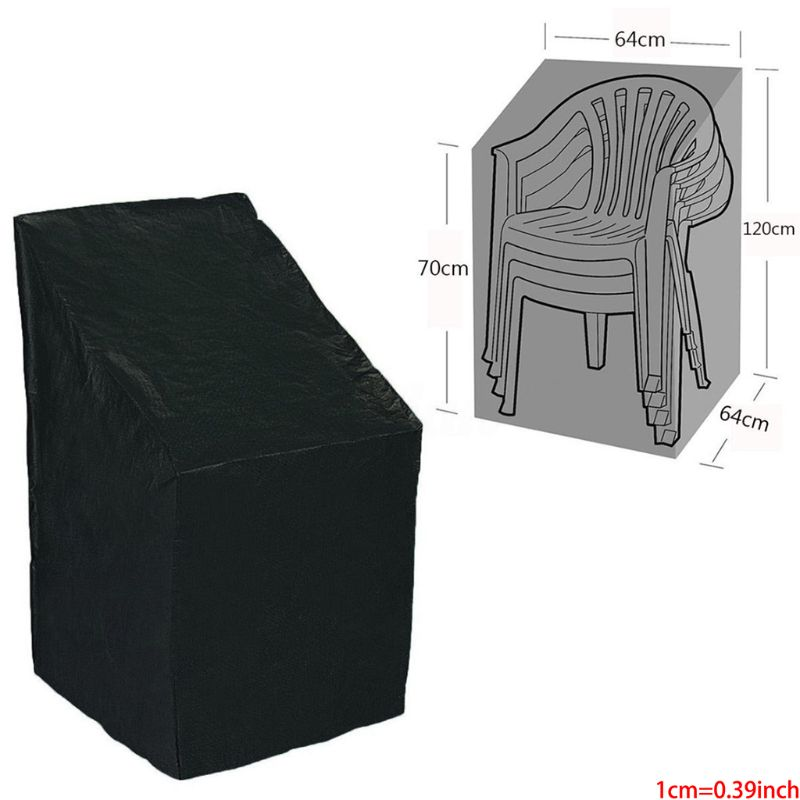Stackable Patio Chair Cover, Durable And Waterproof Out Furniture Chair Cover 37MD