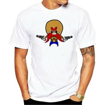 Camiseta masculina yosemite sam do 1952, verano 14, cenoura, coelho, preto, moda,...