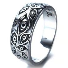 В стиле панк Модные кольца для мужчин и женщин в стиле ретро; В стиле «хип-хоп личности выгравировано демон глаз» в стиле ретро Hipster кольцо ды...