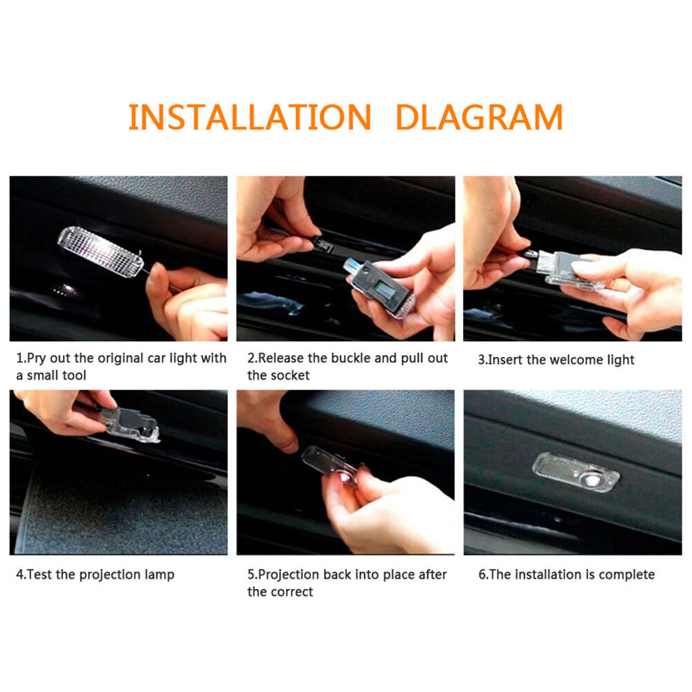 Image 5 - LED Car Door Welcome Logo Light For BMW E90 E60 E71 F30 F12 F10 X5 E70 G30 E87 E92 E91 X1 X3 X5 X6 GT E93 F18 E63 F12 F13 Z4 E85-in Car Stickers from Automobiles & Motorcycles