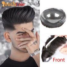 Erkek peruk % 100% İnsan saç protezi peruk erkekler sistemi ünitesi ön şeffaf cilt tabanı görünmez düğüm saç sistemi erkekler