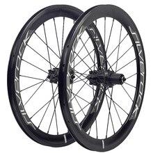 """SILVEROCK juego de ruedas de aleación SR40, 20 """", 406, 451, llanta, freno de disco, perfil alto, 74, 100, 130, para triciclo, plegable, Minivelo, ruedas de bicicleta"""