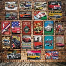 [ DecorMan ] Amecian Car Muscle Metal Sign Custom Poster Iron Paintings Bar PUB Decor LT-1800