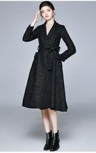 Zuoman женское осенне зимнее элегантное платье полушерстяные