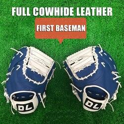 13 pulgadas guante de béisbol Batting cuero de vaca completo primera base poder de combate para hombres jóvenes adultos zurdos diestros softball