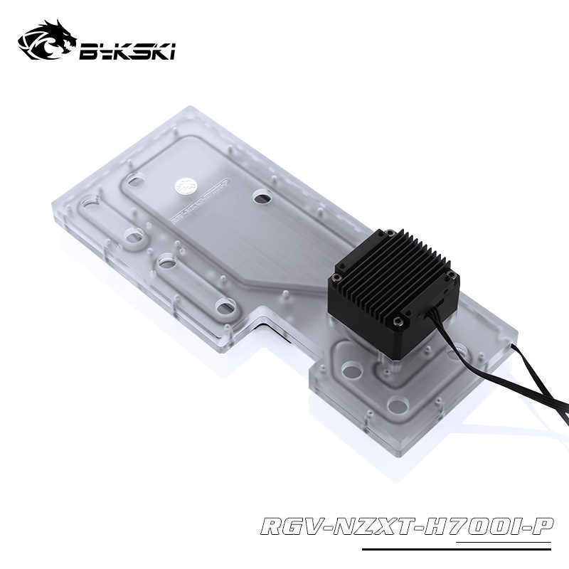 Bykski RBW Acrylic Distro Distribution Plate Waterway Boards with DDC Pump for Computer NZXT H700I Water Cooling Case