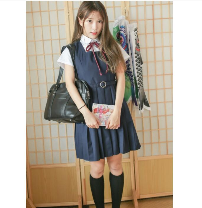 School Uniforms Short Or Long Sleeve Shirt And Vest Dress High Quality Japanese Preppy Style Girls Uniform Anime Costumes S-XL