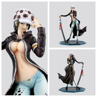 One Piece Huong Anime Sexy Female Version Trafalgar D Water Law Action Figure Toys Collection Brinquedos Christmas Toy Doll 22cm