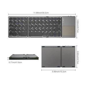 Image 5 - AVATTO B033 מיני מתקפל מקלדת Bluetooth 5.0 מתקפל מקלדת אלחוטית עם משטח מגע עבור Windows, אנדרואיד, ios Tablet ipad טלפון