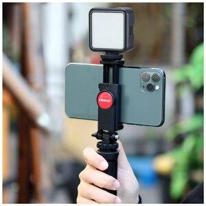 Image 1 - ULANZI 360 Telefone Tripé Flexível Montar Titular da Braçadeira com Sapata Fria para iPhone Samsung DSLR câmera de monitoramento