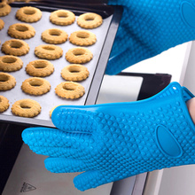 1 Piece  Silicone Heat Resistant Gloves Anti-scalding Oven Mitts Potholder Kitchen BBQ Gloves Tray Pot Dish Holder Oven Glove
