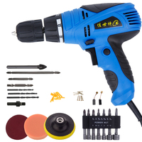 Electric Screwdriver Rotary Tool 220V Set Copper Accessories Power Tools For Craft Project Multifunctional Torque Electric Drill
