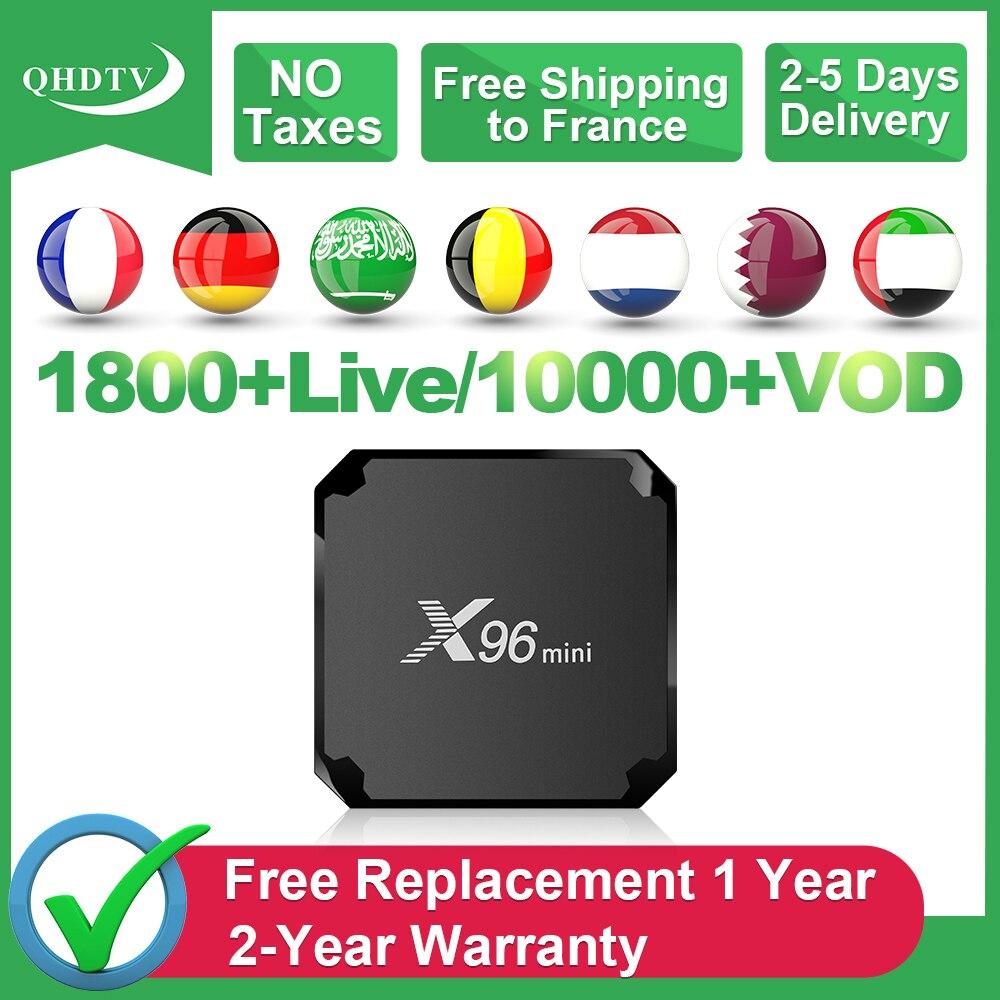 X96 Mini France IPTV Box QHDTV 1 an IPTV Code arabe français X96mini Android 7.1 Tv Box IPTV belgique maroc pays-bas IP TV