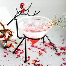 Скандинавский креативный Железный арт держатель лося специальный питательный молекулярный бокал для коктейлей вечерние Бар Свадьба Шампань купе вино Мартини стекло