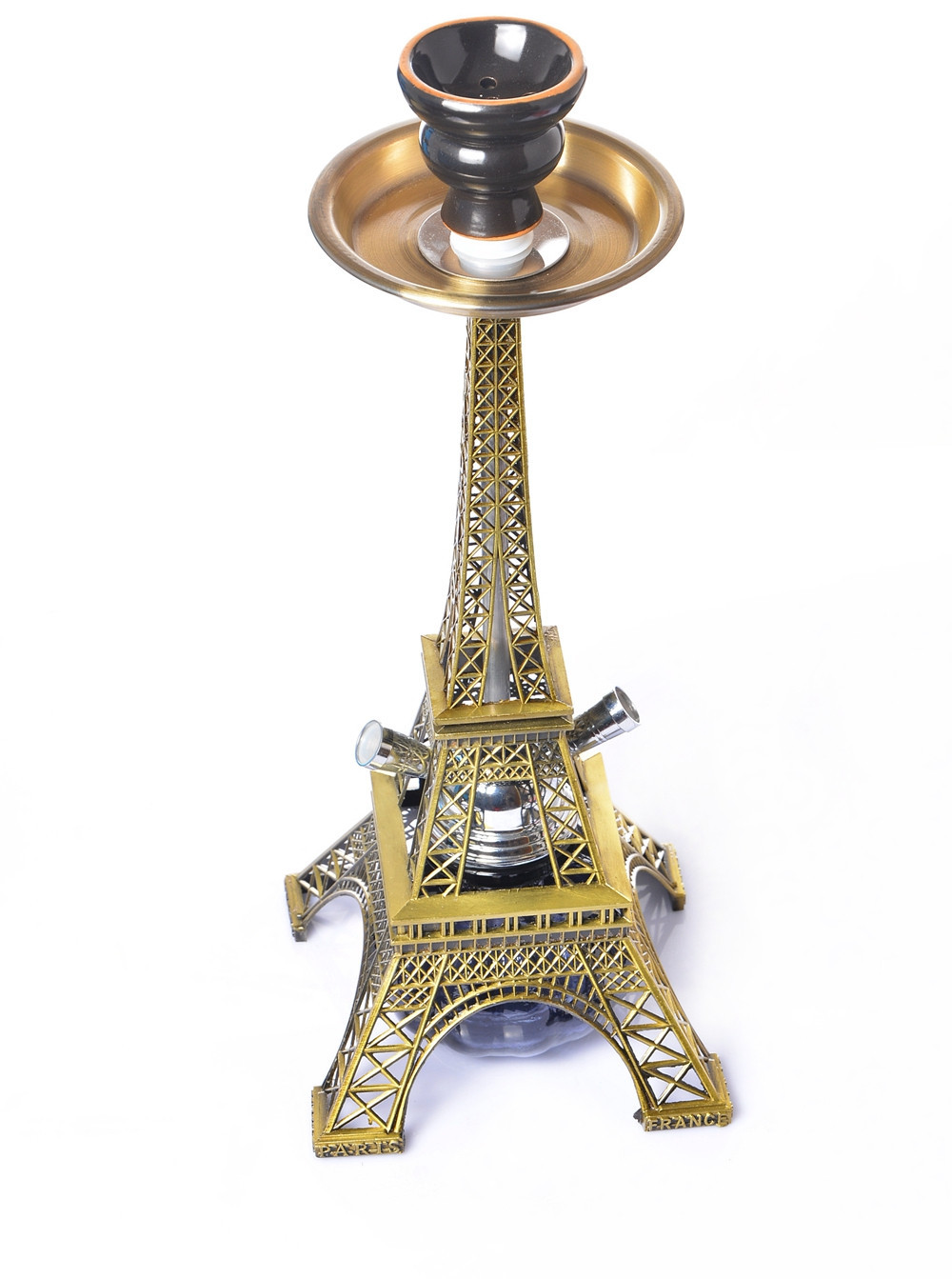 Eiffel Tower Hookah Double Pipe Hookah Set  Dry  Smoking Accessories for Weed Cute for Girls  Bowls   Bong 4