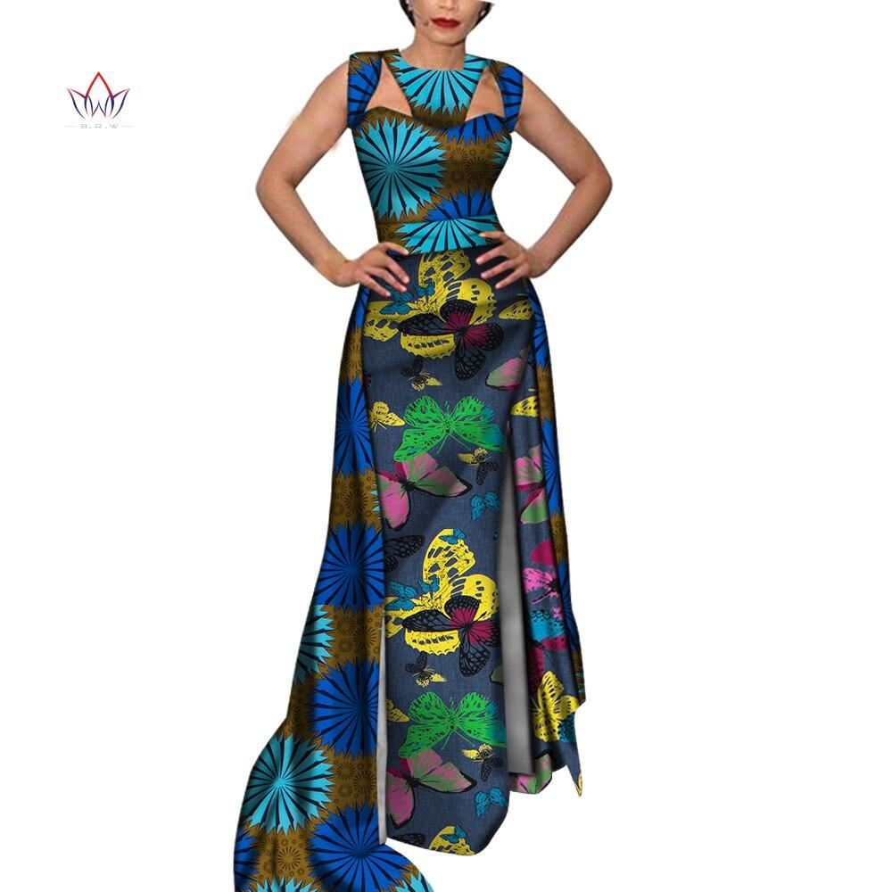 sem mangas oco longo africano roupas para